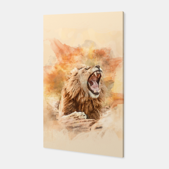 Thumbnail image of Lion Yawning Canvas, Live Heroes