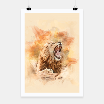 Thumbnail image of Lion Yawning Poster, Live Heroes