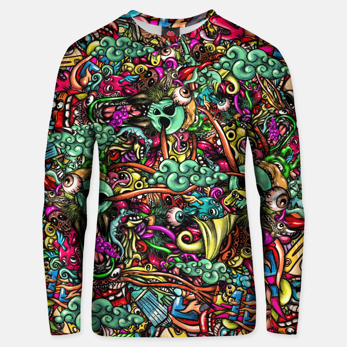 Foto more Doodles Unisex sweater - Live Heroes