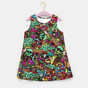Miniature de image de more Doodles Girl's summer dress, Live Heroes