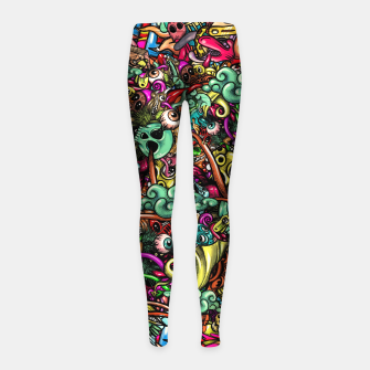 Thumbnail image of more Doodles Girl's leggings, Live Heroes