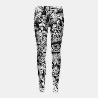 Thumbnail image of Inked Eye Girl's leggings, Live Heroes