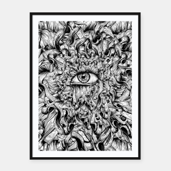 Thumbnail image of Inked Eye Framed poster, Live Heroes