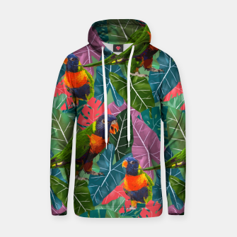 Parrots and Tropical Leaves Hoodie thumbnail image