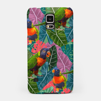 Parrots and Tropical Leaves Samsung Case thumbnail image