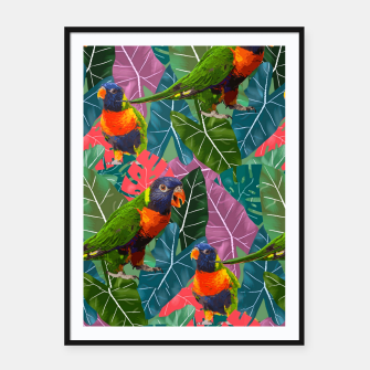 Parrots and Tropical Leaves Framed poster thumbnail image