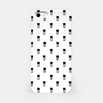 Sketchy Emojis Print Pattern iPhone Case thumbnail image