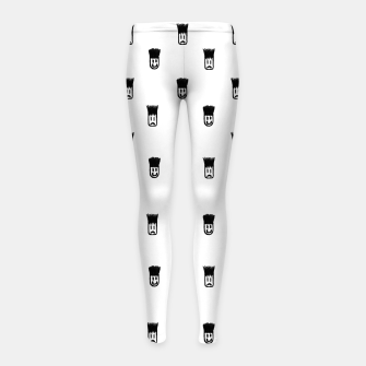 Sketchy Emojis Print Pattern Girl's leggings thumbnail image