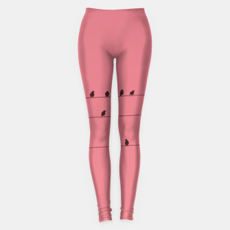 Thumbnail image of Birds and wires Leggings, Live Heroes