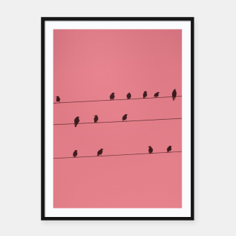 Thumbnail image of Birds and wires Framed poster, Live Heroes