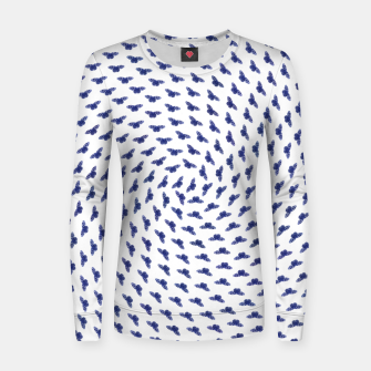 Blue butterflies in the swarm Frauen sweatshirt thumbnail image