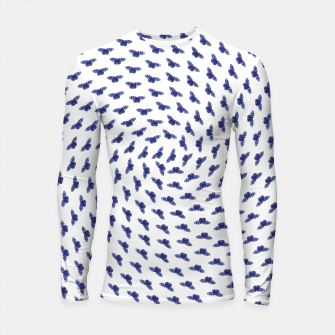 Blue butterflies in the swarm Longsleeve rashguard thumbnail image