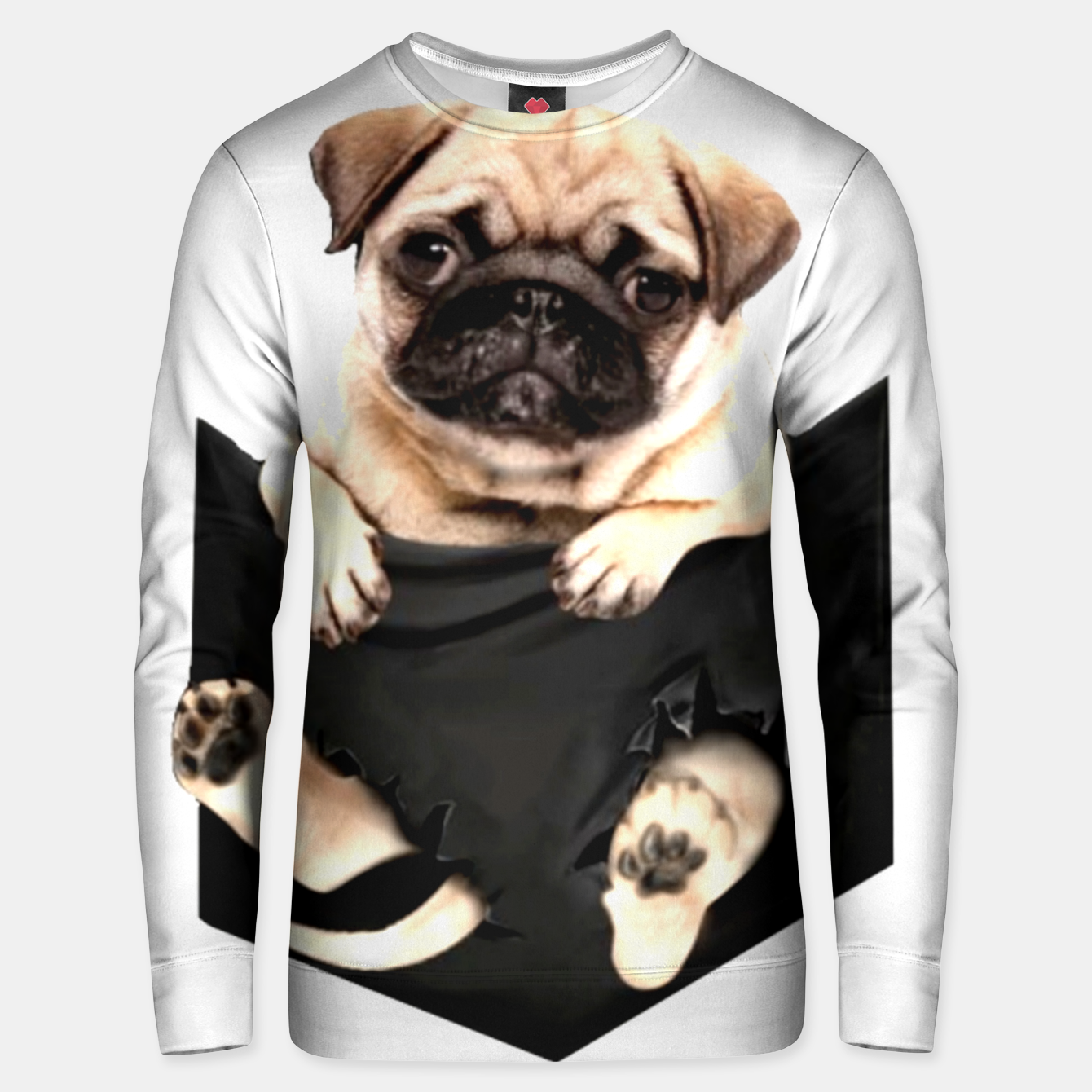 Image of Pug Puppies Cute Best Dog Pocket New Design Women Men Girls Accessories Gift Unisex sweater - Live Heroes