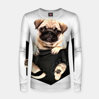 Thumbnail image of Pug Puppies Cute Best Dog Pocket New Design Women Men Girls Accessories Gift Women sweater, Live Heroes
