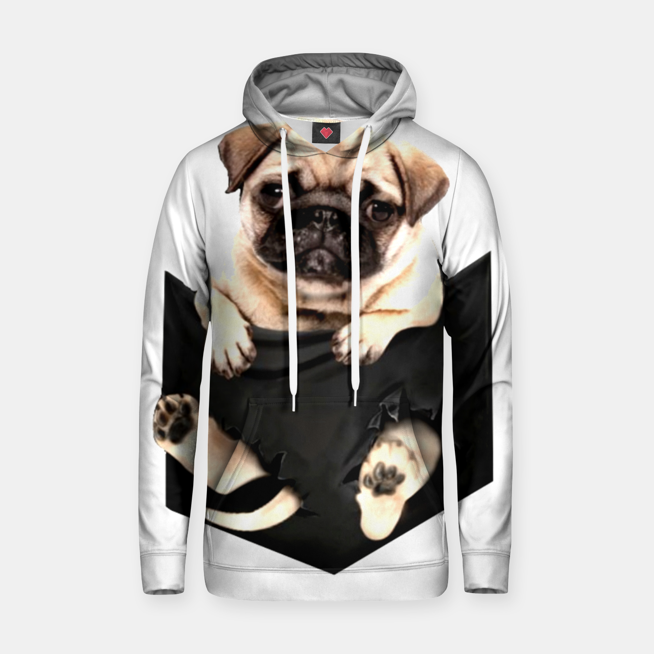 Image of Pug Puppies Cute Best Dog Pocket New Design Women Men Girls Accessories Gift Hoodie - Live Heroes