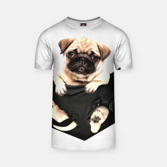 Thumbnail image of Pug Puppies Cute Best Dog Pocket New Design Women Men Girls Accessories Gift T-shirt, Live Heroes