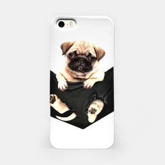Miniatur Pug Puppies Cute Best Dog Pocket New Design Women Men Girls Accessories Gift iPhone Case, Live Heroes