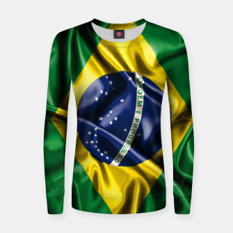 Thumbnail image of Brazilian Flag Green Yellow Bleu Brazil Women sweater, Live Heroes