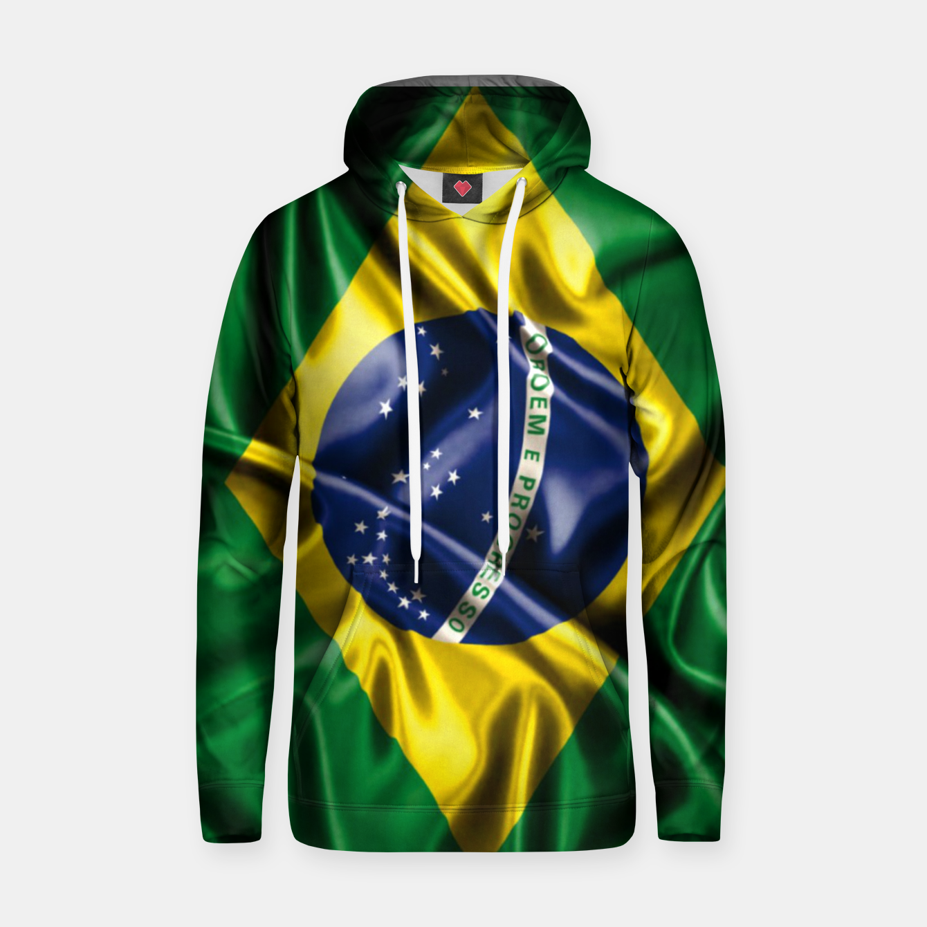 Image of Brazilian Flag Green Yellow Bleu Brazil Hoodie - Live Heroes