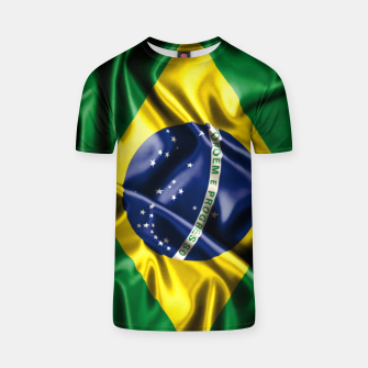Thumbnail image of Brazilian Flag Green Yellow Bleu Brazil T-shirt, Live Heroes