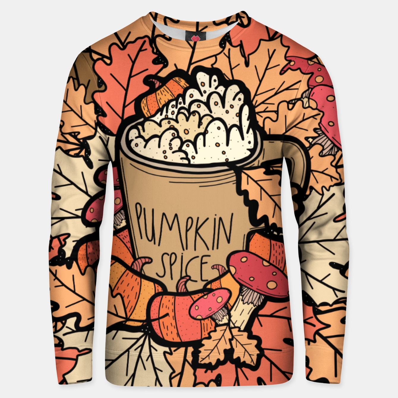 Image of Pumpkin spice coffee Unisex sweater - Live Heroes