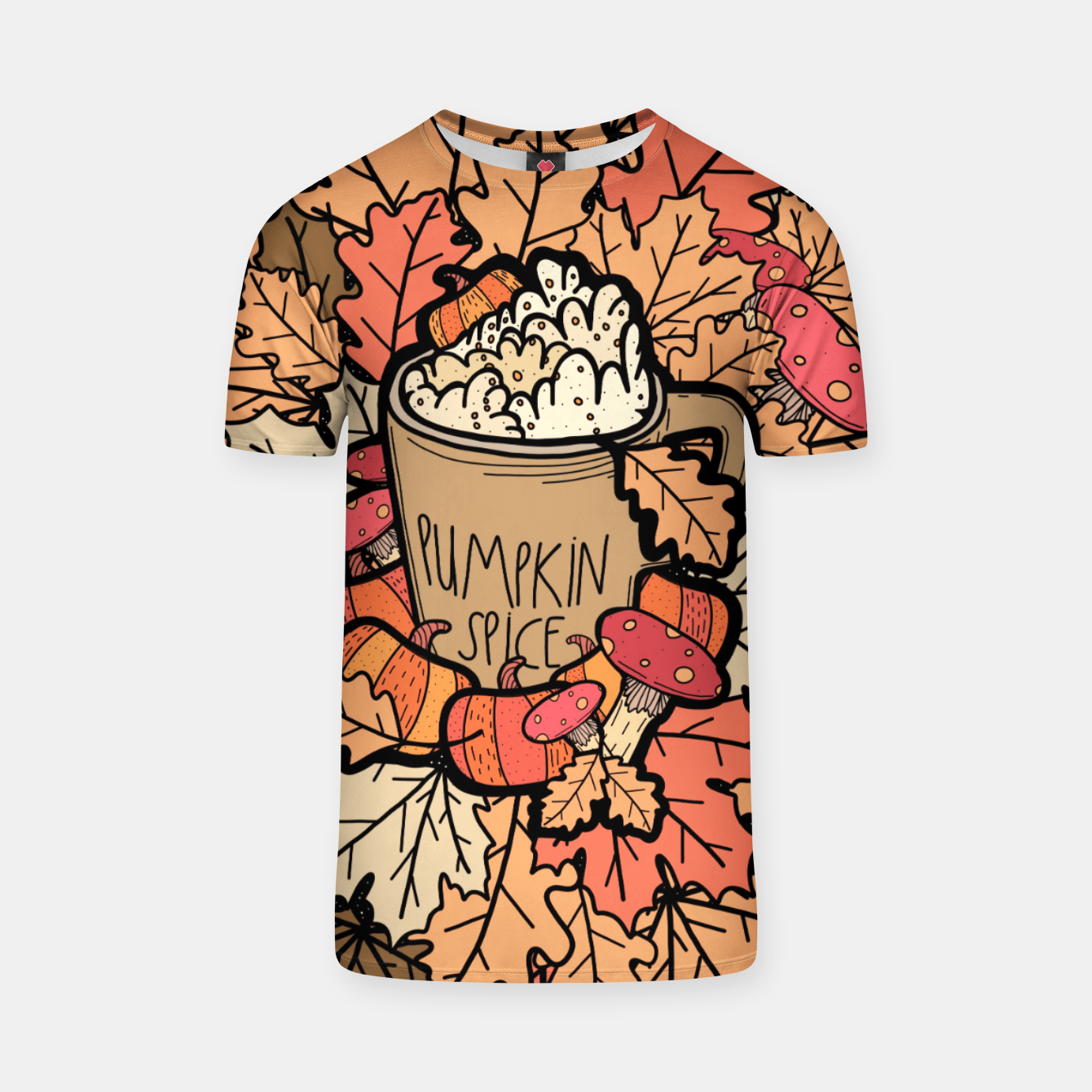Image of Pumpkin spice coffee T-shirt - Live Heroes