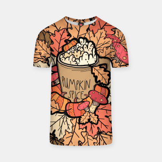 Pumpkin spice coffee T-shirt miniature