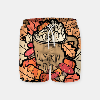 Miniature de image de Pumpkin spice coffee Swim Shorts, Live Heroes