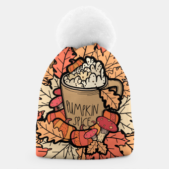 Pumpkin spice coffee Beanie miniature
