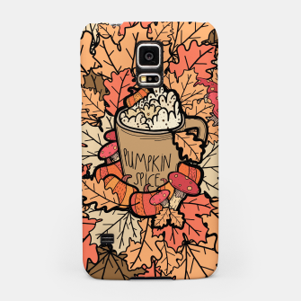 Pumpkin spice coffee Samsung Case miniature