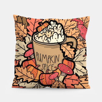 Thumbnail image of Pumpkin spice coffee Pillow, Live Heroes