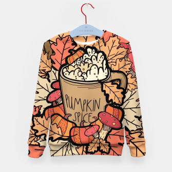 Thumbnail image of Pumpkin spice coffee Kid's sweater, Live Heroes
