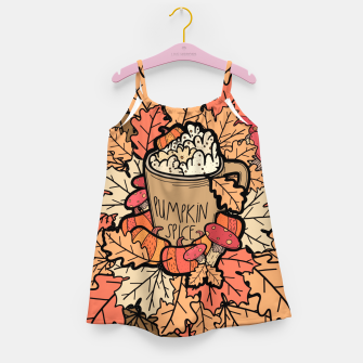 Miniature de image de Pumpkin spice coffee Girl's dress, Live Heroes