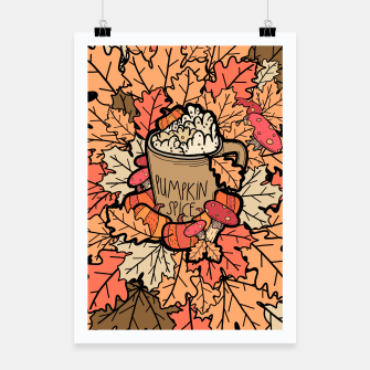 Pumpkin spice coffee Poster miniature