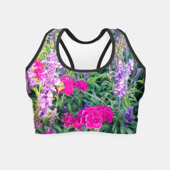 Thumbnail image of sunny flowers Crop Top, Live Heroes