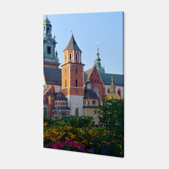 Wawel in flowers Canvas thumbnail image