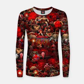Thumbnail image of Brutal DooM Women sweater, Live Heroes