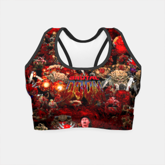 Thumbnail image of Brutal DooM Crop Top, Live Heroes