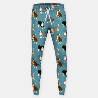 Miniatur Australian Shepherd Pattern (Teal Background) Sweatpants, Live Heroes