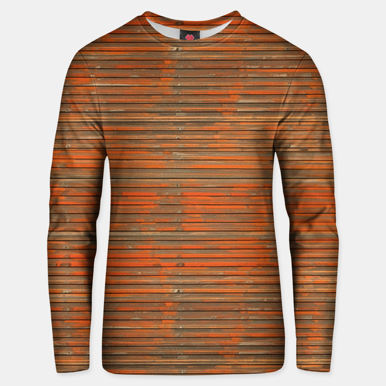 Image of Orange Grunge Print Unisex sweater - Live Heroes