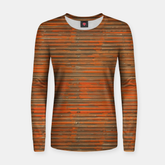 Orange Grunge Print Women sweater thumbnail image