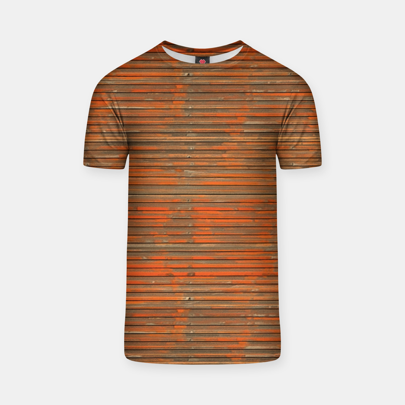 Image of Orange Grunge Print T-shirt - Live Heroes