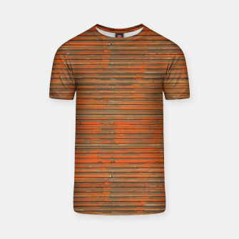 Orange Grunge Print T-shirt thumbnail image