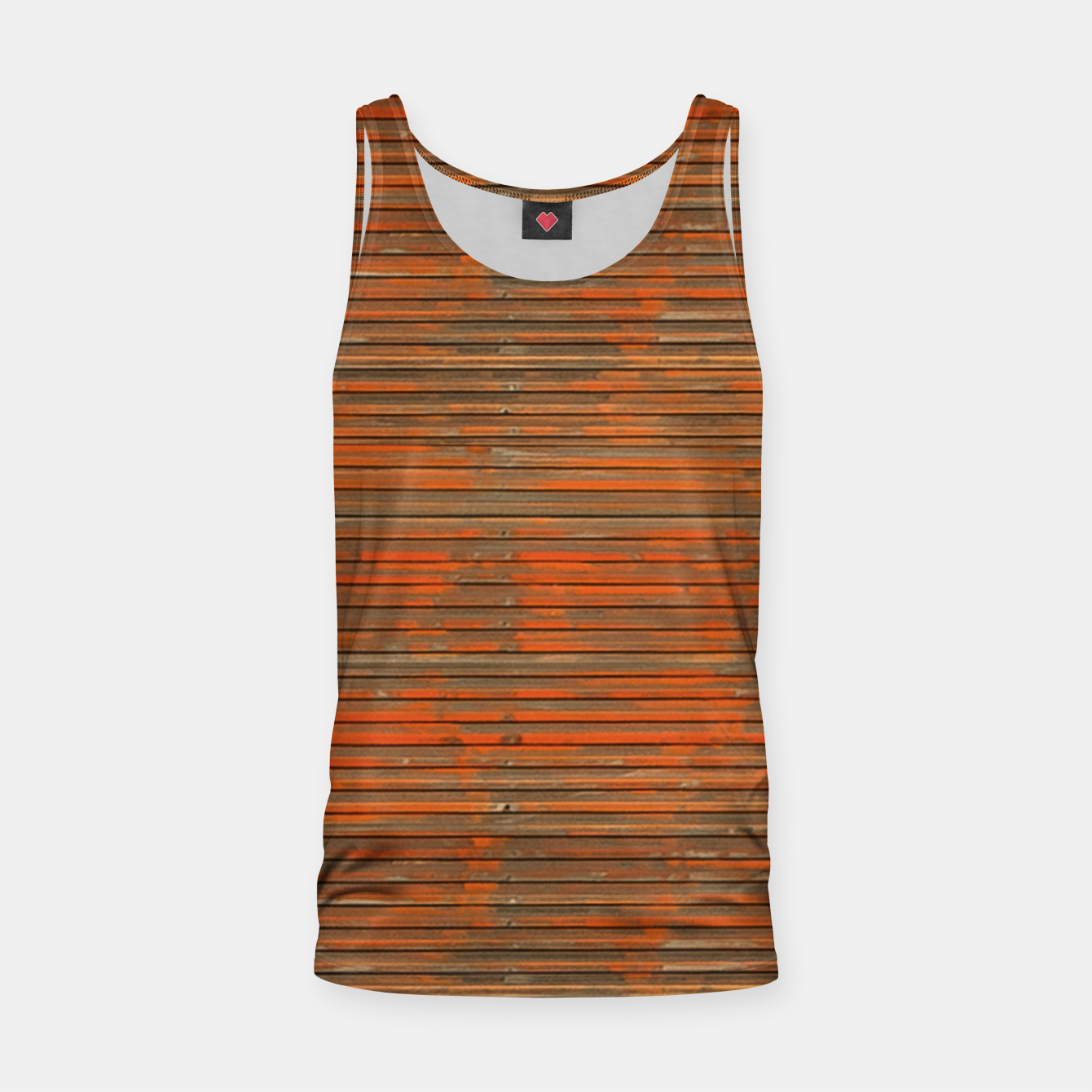 Image of Orange Grunge Print Tank Top - Live Heroes