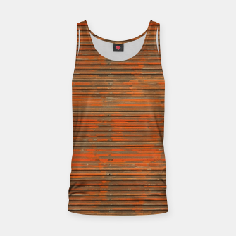 Orange Grunge Print Tank Top thumbnail image