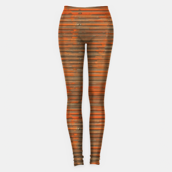 Orange Grunge Print Leggings thumbnail image