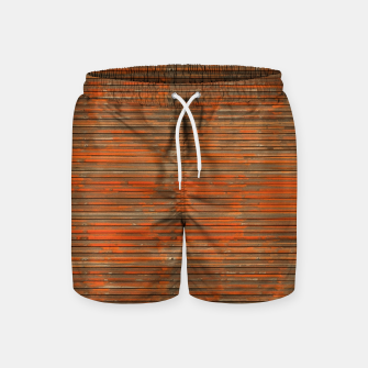 Orange Grunge Print Swim Shorts thumbnail image