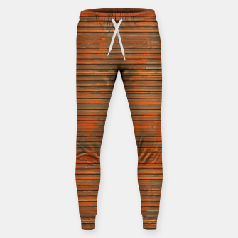 Orange Grunge Print Sweatpants thumbnail image