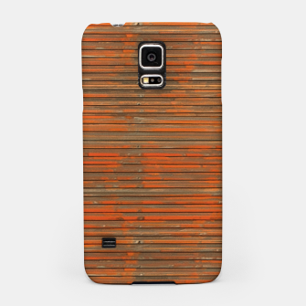 Orange Grunge Print Samsung Case thumbnail image