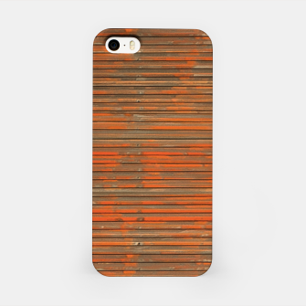 Orange Grunge Print iPhone Case thumbnail image